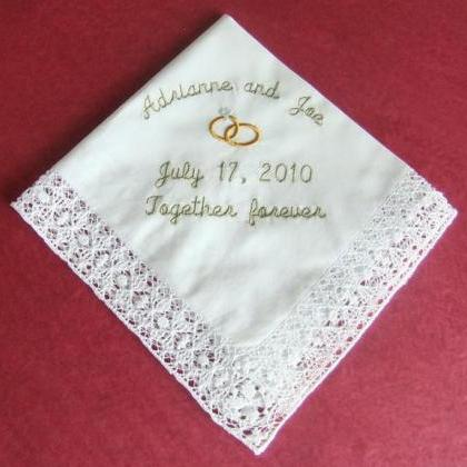 Personalized Wedding Gift Hankie Ha..