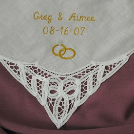 Personalized Wedding Handkerchief B..
