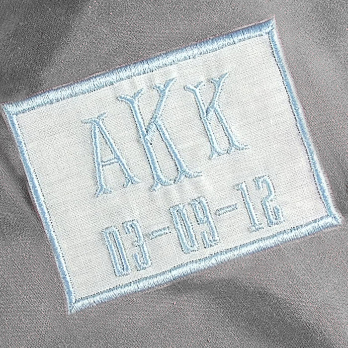 Dress Labels for Wedding Dresses Baby Blue Bridal Label White Linen