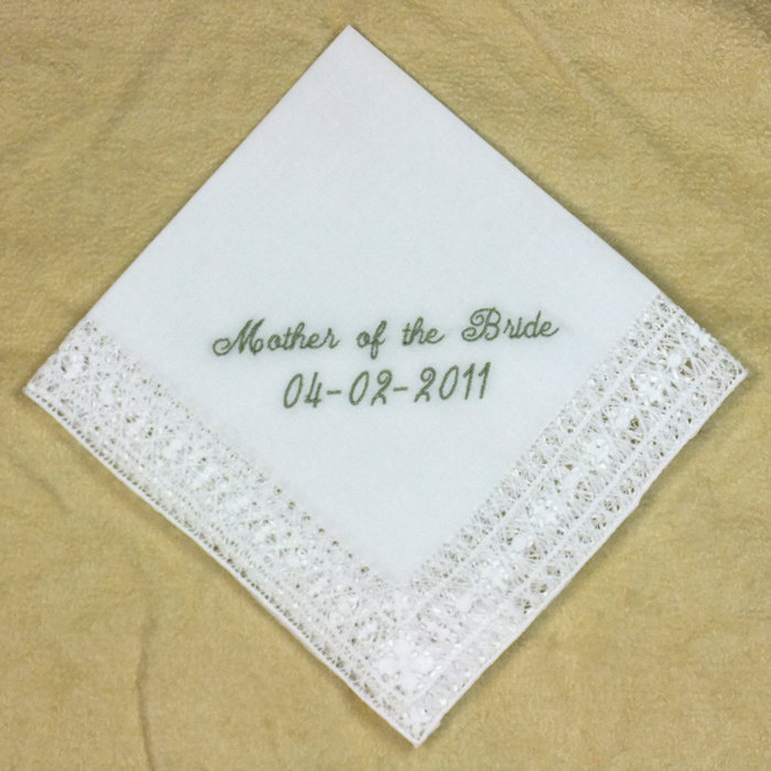 Intricate Hand Drawnwork Wedding Hankie Personalized Embroidered H8152
