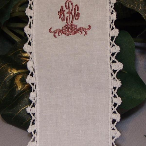 Christmas Cotton Bookmark Personalized Embroidered Crochet