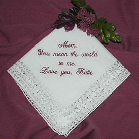 Mother of the Bride Gift Personalized Ladies Cotton Handkerchief H8152